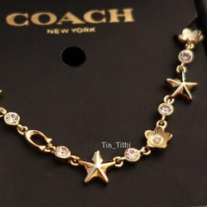 Coach Flower Star Necklace